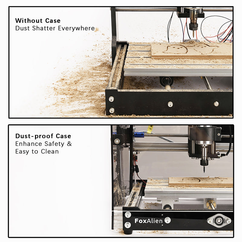 FoxAlien CNC Router 3018-SE V2 Transparent Black.04