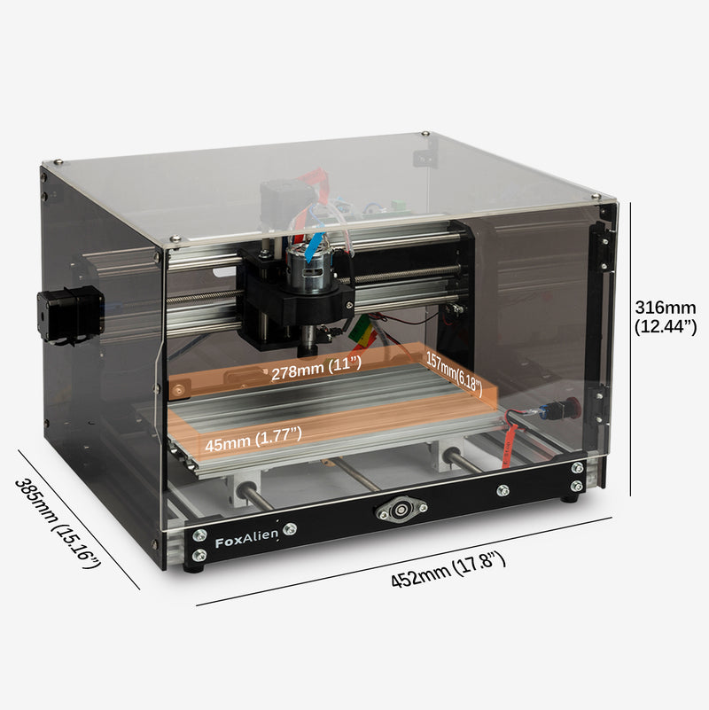 FoxAlien CNC Router 3018-SE V2 Transparent Black.02