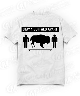 stay one buffalo apart white t-shirt