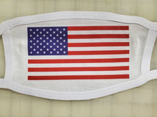 Load image into Gallery viewer, american flag on cotton face cover