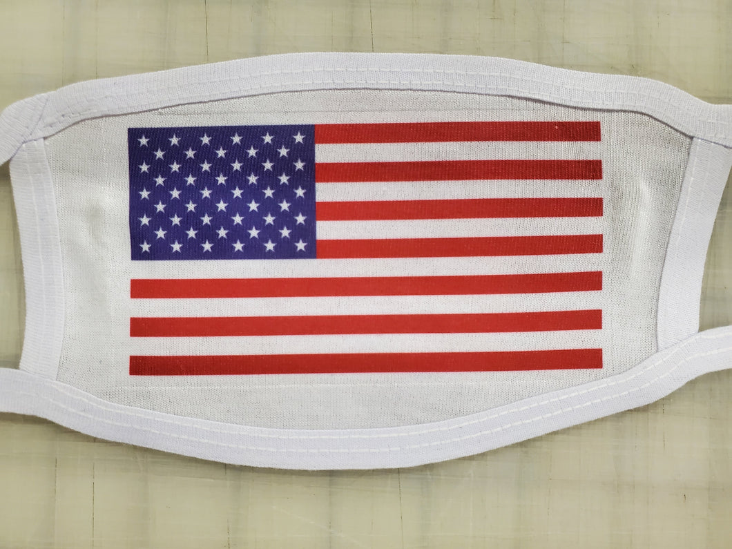 american flag on cotton face cover