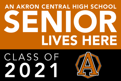 akron senior lawn sign