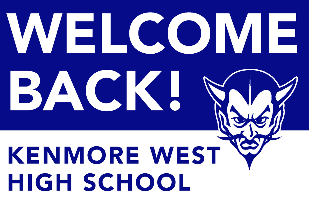 Lawn Sign - Welcome Back To School - Kenmore West