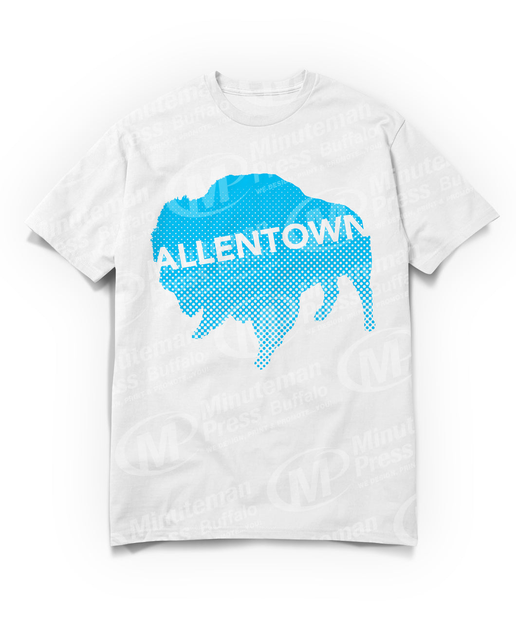 Allentown on sky blue Buffalo/Bison T-shirt