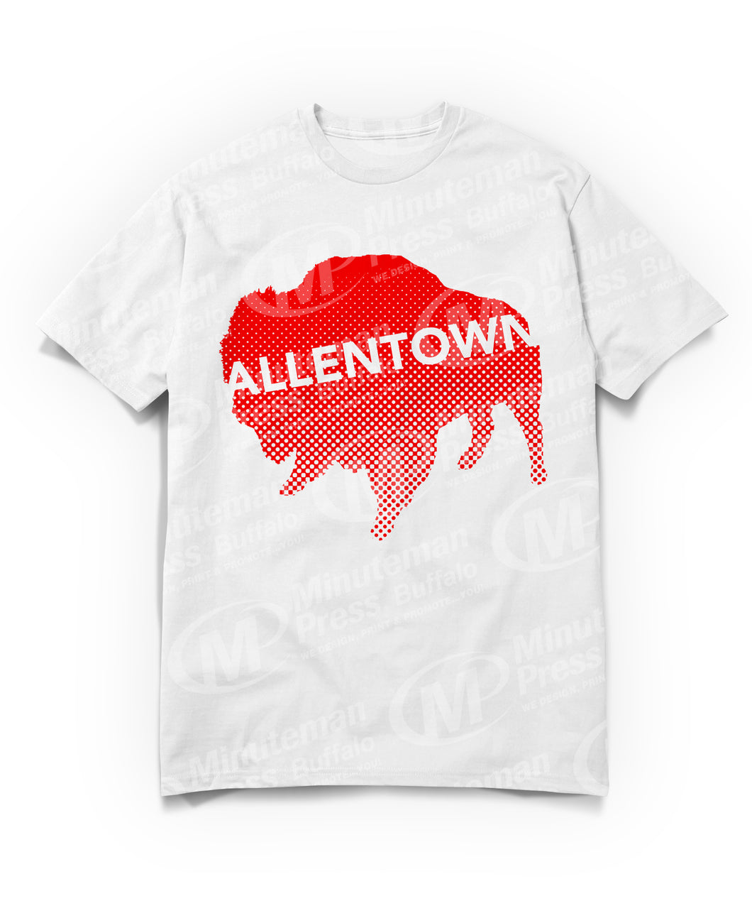 Allentown on red Buffalo/Bison T-shirt