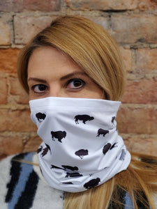 Buffalo Pattern Printed Fashion Face & Neck Cover