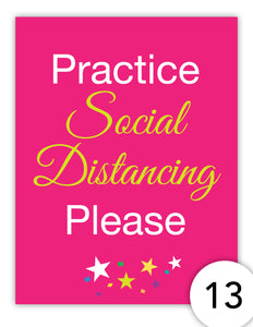 Practice Social Distancing Please