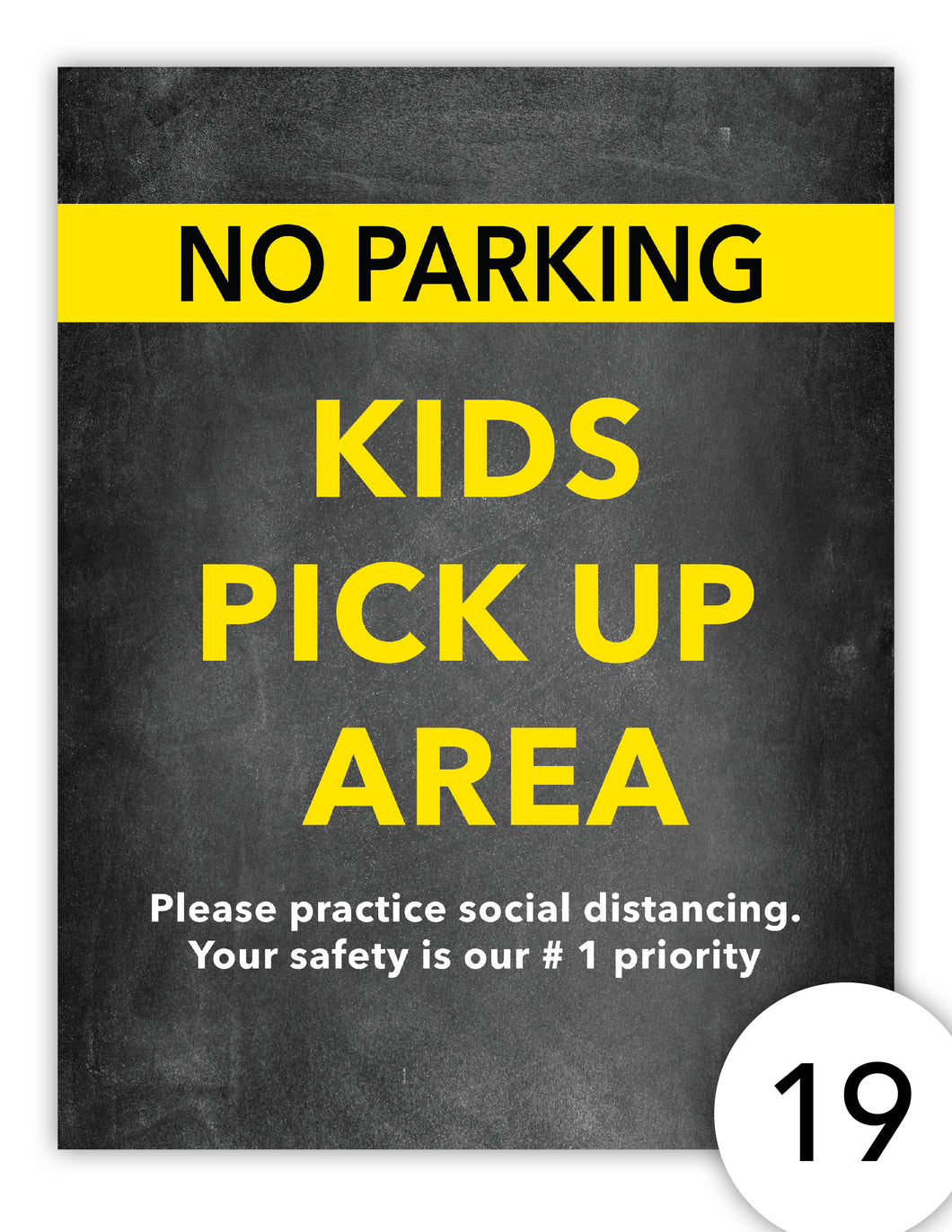 No Parking Kids Pick Up Area