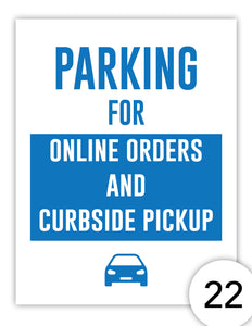 Parking for Online Orders and Curbside Pickup