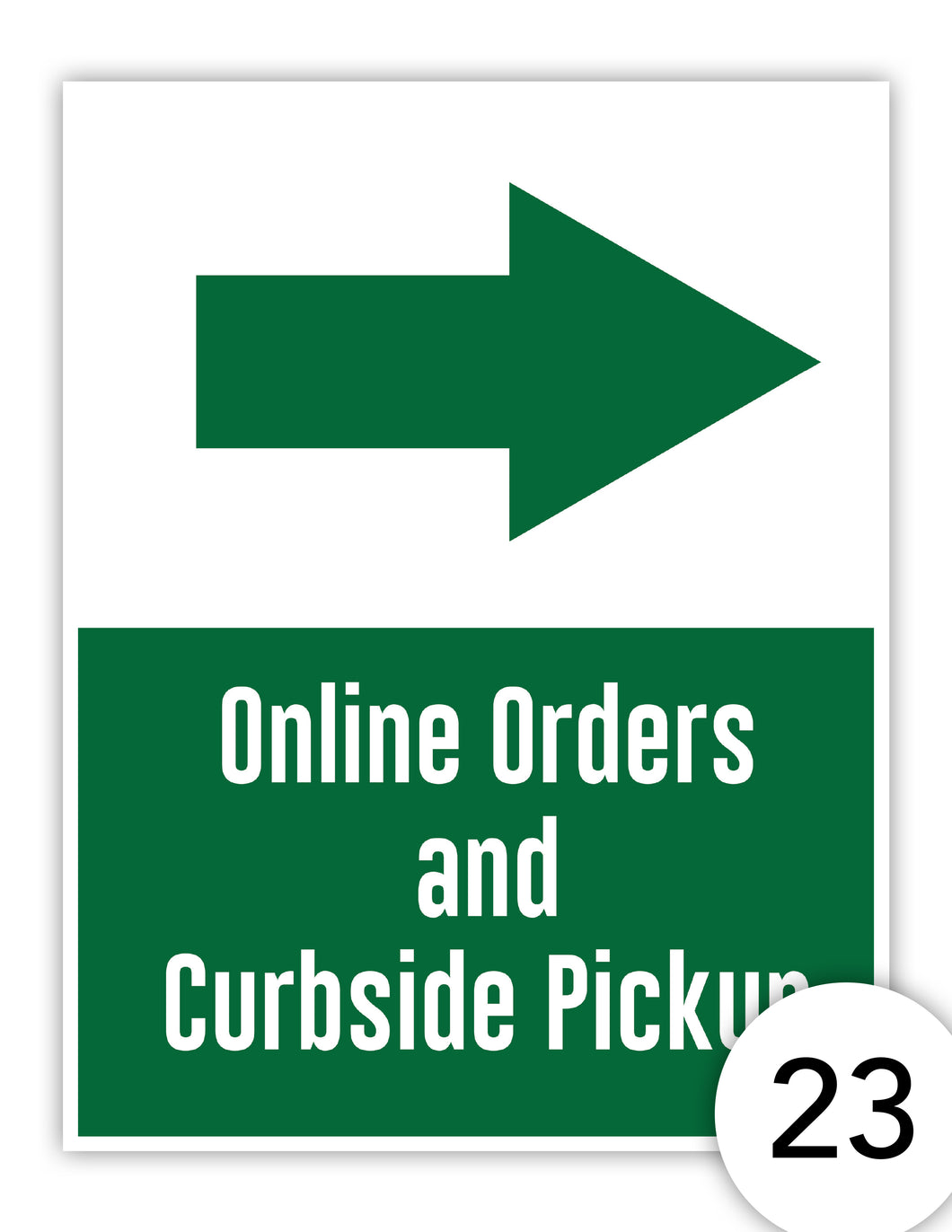 Online Orders and Curbside Pickup - Right arrow