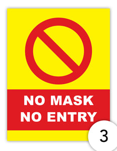 No Mask No Entry version 3