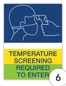 Temperature Screening Required to Enter