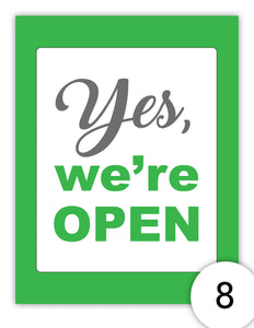 Yes,  We're Open Again