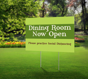 dining room now open green