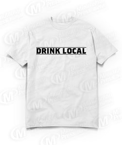 drink local white t-shirt