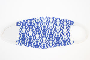 Blue Ocean Wave Pattern Fashion Face Cover