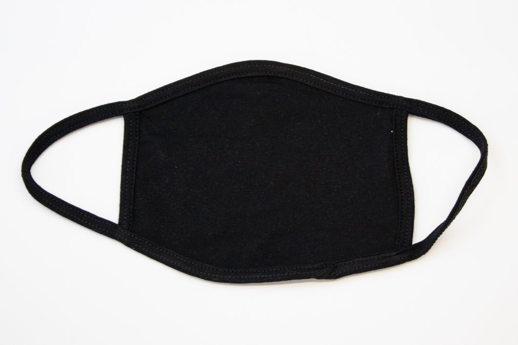 Blank Black Fashion Face Cover - 100% Cotton