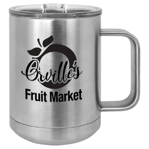 Stainless Steel 15 oz. Insulated Polar Camel Mug with Slider Lid