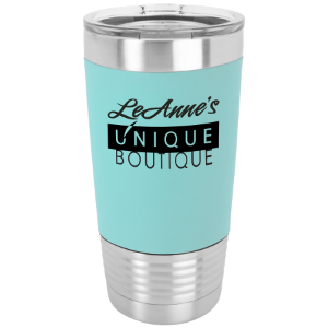 teal polar camel tumbler with silicone grip