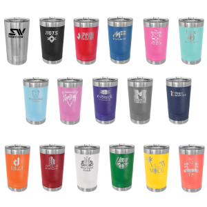 Colored 16 oz.Engravable Polar Camel Pint with Slider Lid