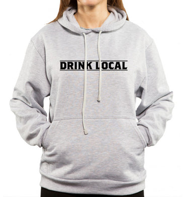 drink local gray hoodie