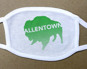 Allentown on green Buffalo/Bison face mask face cover