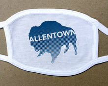 Load image into Gallery viewer, Allentown navy blue Buffalo/Bison face mask face cover
