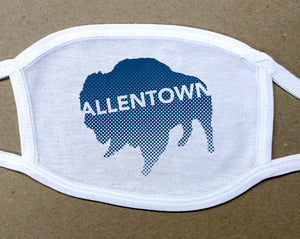 Allentown navy blue Buffalo/Bison face mask face cover