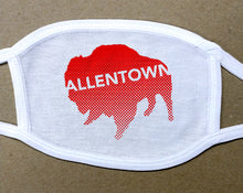 Load image into Gallery viewer, Allentown red Buffalo/Bison face mask face cover