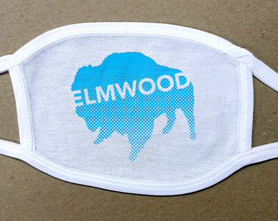 blue Elmwood Buffalo on cotton face cover/mask