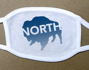 north buffalo text on buffalo on cotton face mask/cover