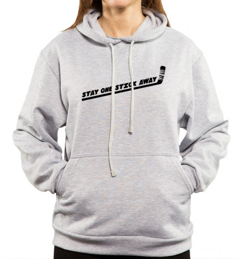 stay one stick away hockey gray hoodie