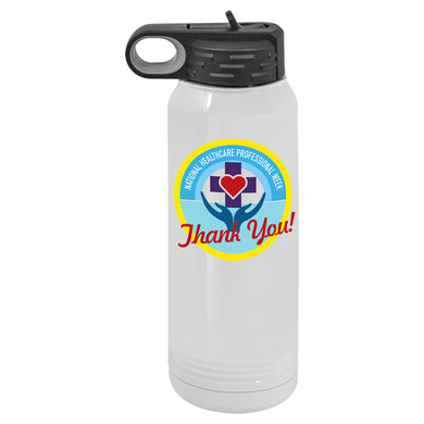 WB931 30oz White Polar Camel Sublimatable Water Bottle