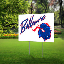 "Load image into Gallery viewer, Lawn Sign - ""Billieve"" -Charging Buffalo - Show your Support for the Bills with this Billieve sign"