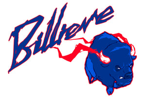 "Lawn Sign - ""Billieve"" -Charging Buffalo - Show your Support for the Bills with this Billieve sign"