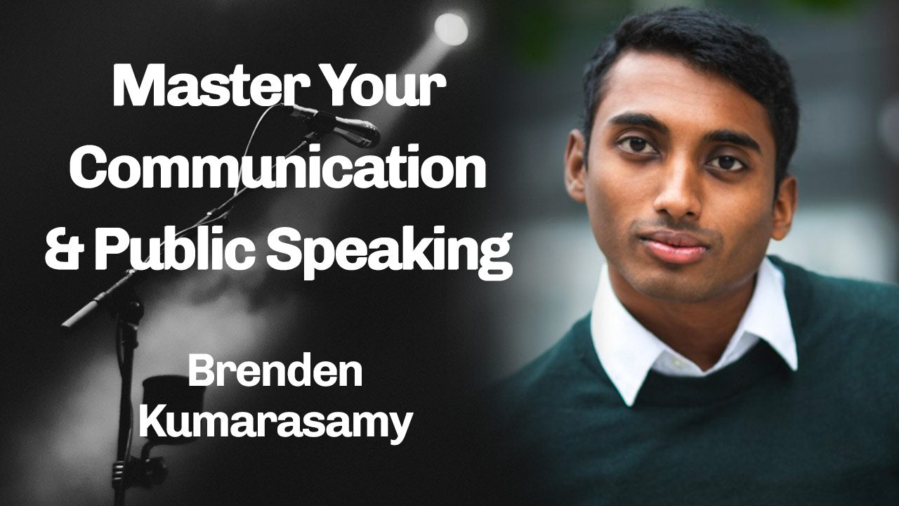 MasterTalk - Growth in Communication and Public Speaking - Brenden Kumarasamy