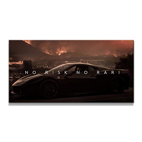"IKONICK No Risk No Rari Inspirational Canvas Wall Art, Nature Collection for Office and Home Decor, Inspiring Canvas Art - 30"" x 15"".75"" Depth No Frame"