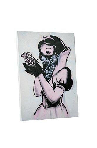 "Pingo World 0531QY8Z7N4 Snow White with Grenade Gallery Wrapped Canvas Print (20 x 16). Bonus Free Banksy Wall Decal, 20"" x 16"""