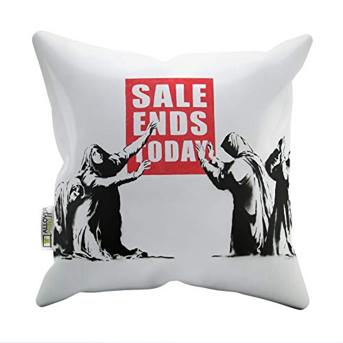 Banksy Pillow Cases - Sale Ends Today - Slogan Printed Soft Faux Suede Cushion Covers