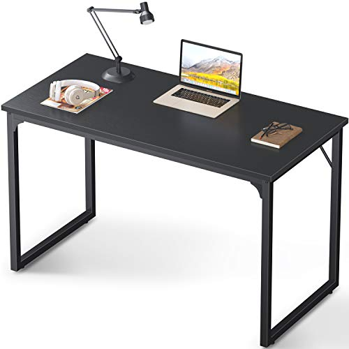 "Coleshome Computer Desk 47"", Modern Simple Style Desk for Home Office, Sturdy Writing Desk,Black"