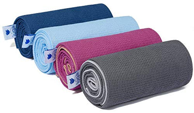 IUGA Yoga Towel Non Slip Soft Yoga Mat Towel Sweat Absorbent Hot Yoga Towel Spray Bottle Included