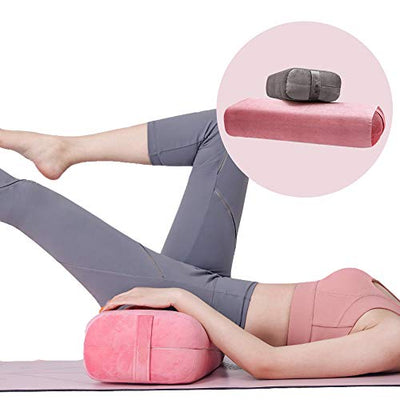 "Rectangular Yoga Bolster (Pink), 26"" x 10"" Large Firm Body Support, Machine Washable Cover, Restorative Yoga Pillows, Meditation Cushion, Yoga Accessories/Props"
