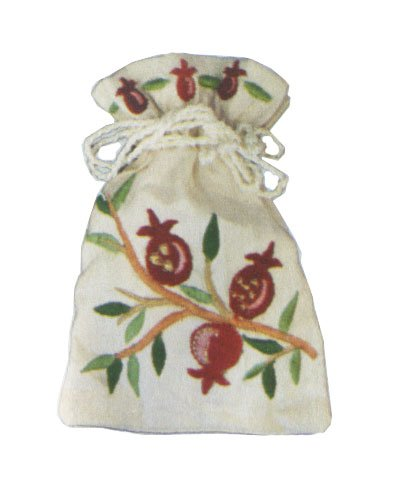 Yair Emanuel Havdalah Spice Bag and Cloves with Pomegranate Design (BBE-3)