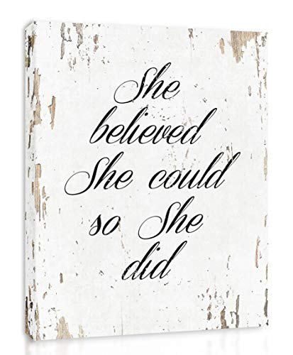 She Believed She Could So She Did - FRAMED