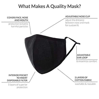 Weddingstar Washable Cloth Face Mask  w/Dust Filter Pocket