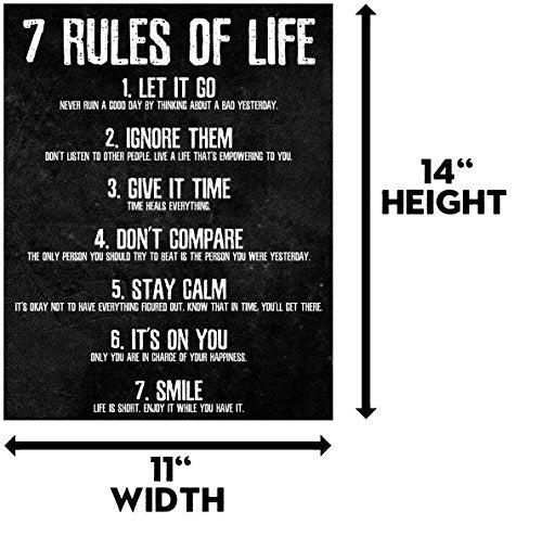 7 Rules of Life Motivational Poster