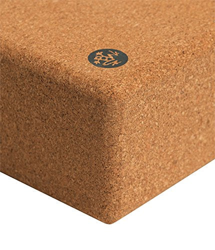 Manduka Premium High Density Cork Yoga Block, 9 x 6 x 4 in.