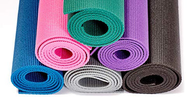 "Gaiam Essentials Premium Yoga Mat with Yoga Mat Carrier Sling, Purple, 72""L x 24""W x 1/4 Inch Thick"