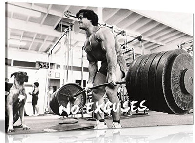 Bodybuilding Fitness Motivation Motivational Canvas Wall Art Picture Print (30x20in)