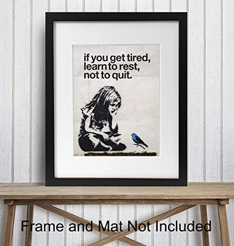 Banksy Wall Art - 8x10 Photo - Urban Mural Print - Cool Gift for Graffiti Street Art Fans - Unframed Picture, Poster, Print